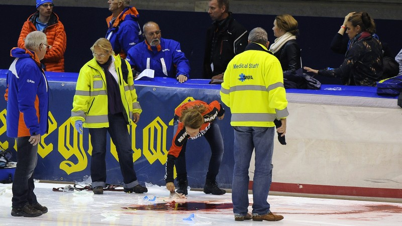 Thialf ongeluk 25 oktober 2014 Martin van de Pol