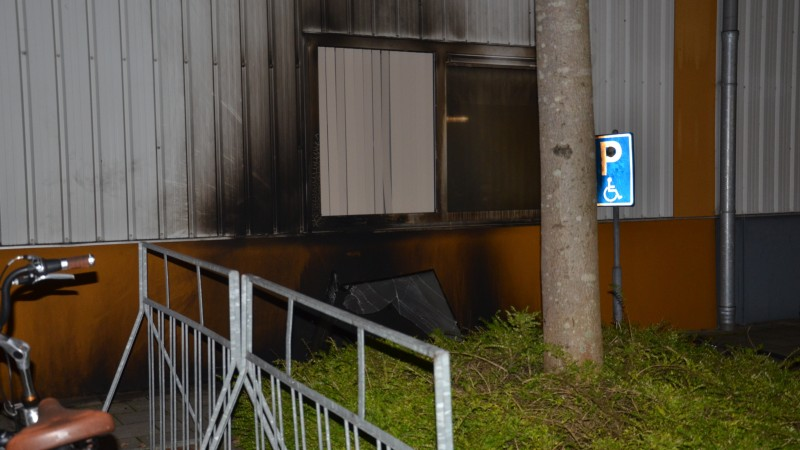Brand sportcentrum de Weyver in Hoogwoud