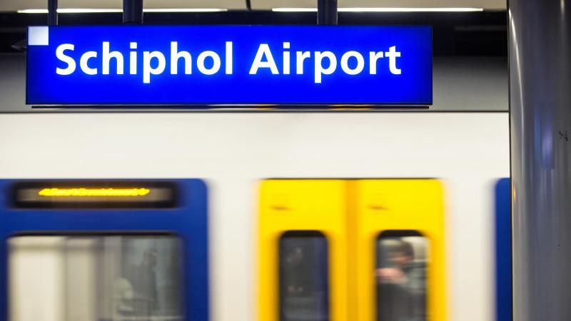 Schiphol Airport station trein