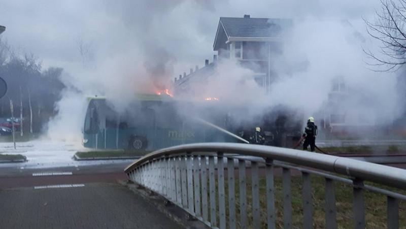 Brand in bus Alkmaar