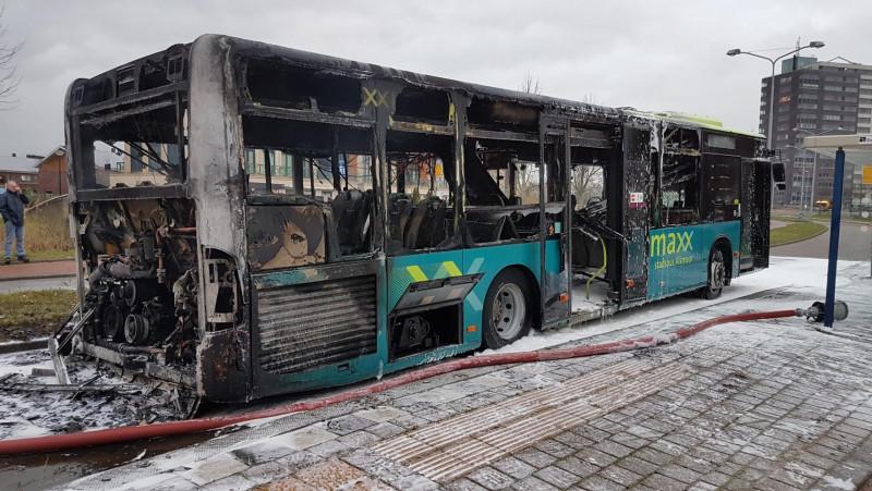 Bus uitgebrand in Alkmaar