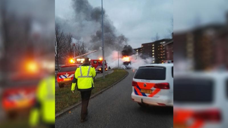 brand in connexxion bus alkmaar