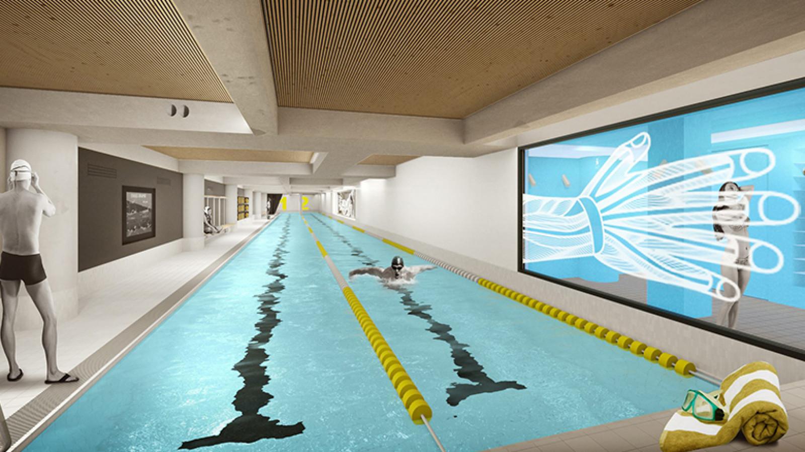 Dit is het smalste zwembad van amsterdam nh nieuws