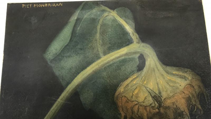 Het ontdekte schilderij van Mondriaan
