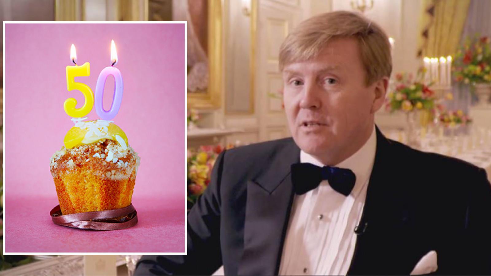 Koning Willem Alexander Dineert Op 50e Verjaardag Met Jarige
