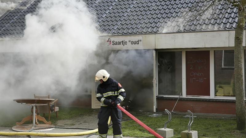 Grote brand in kringloopwinkel Wieringerwerf II