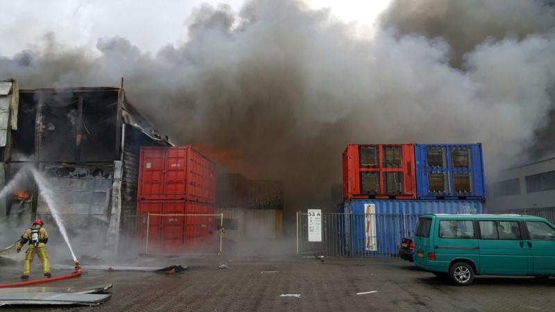 Grote brand Westelijk Havengebied Amsterdam