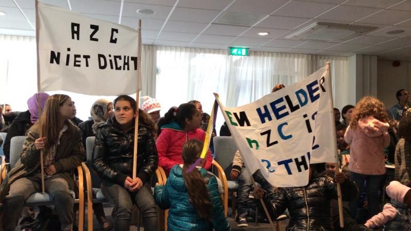 demonstratie asielzoekers den helder