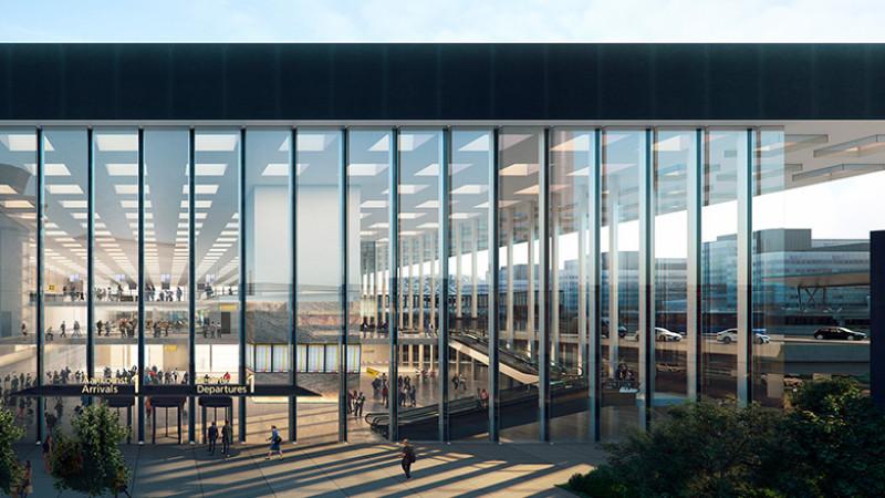 Nieuwe terminal Schiphol Airport