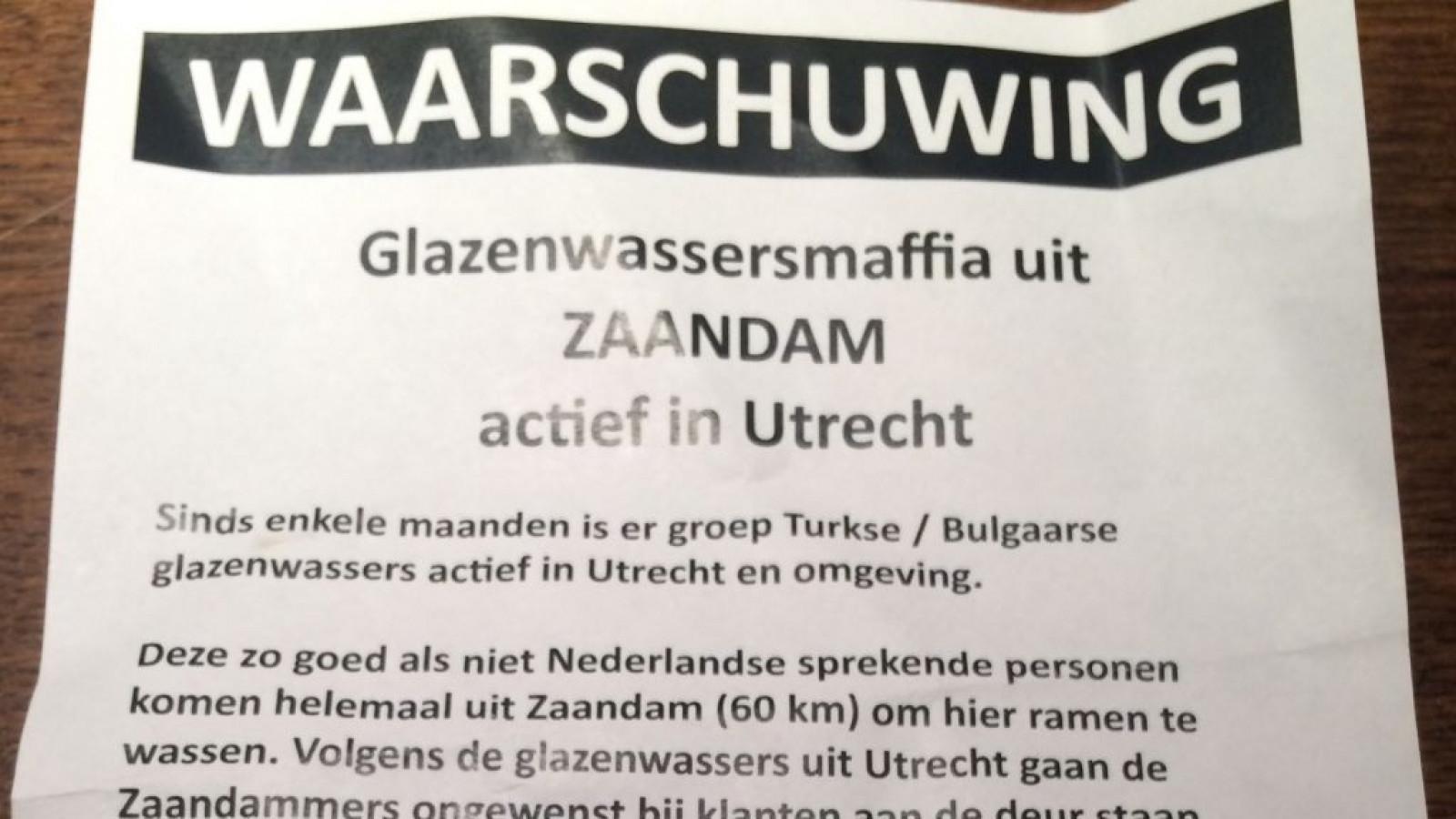 Malafide Zaandamse glazenwassers nemen wijk in Utrecht over