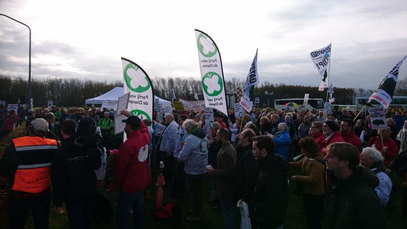 Demonstratie Lelystad Airport