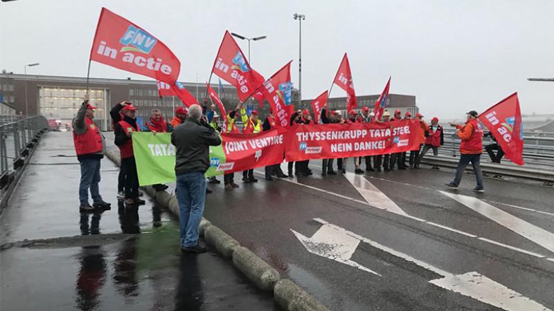 Geheim protest Tata Steel