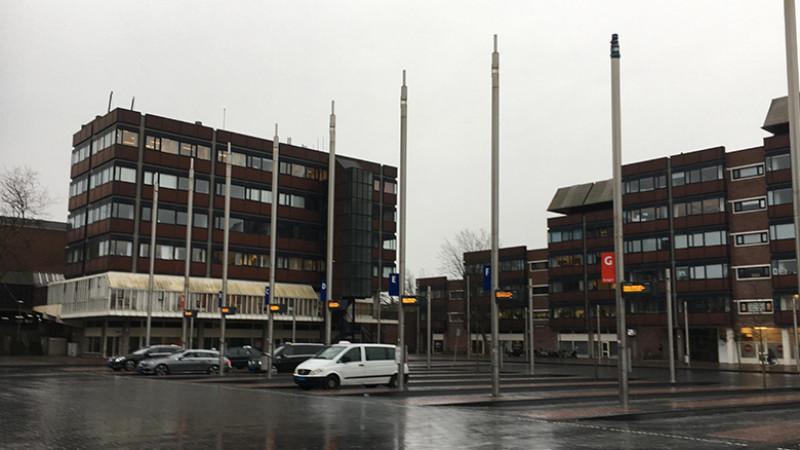 Staking vervoerders Station Haarlem