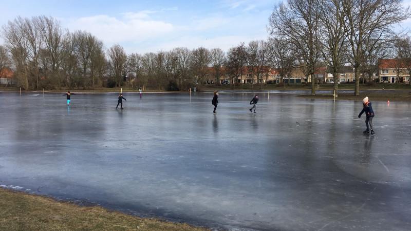 Schaatsen in Volendam