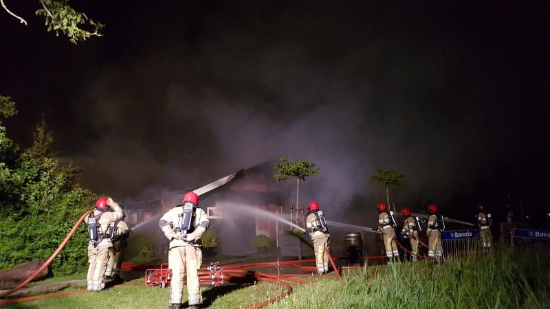 Grote brand restaurant Weesp