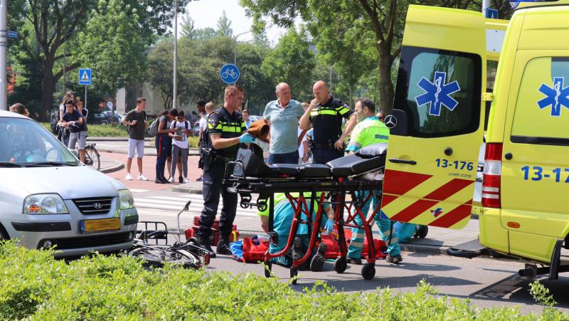 fietser aangereden door auto in Amstelveen