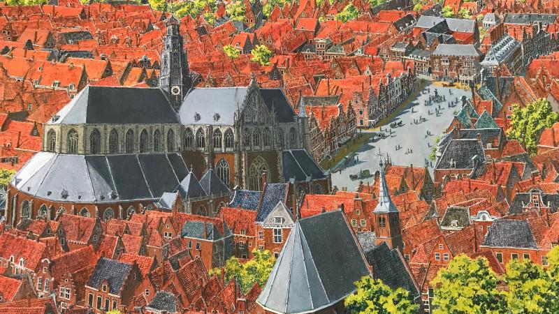 De Grote Markt in 1780, geschilderd door Chiel Braat