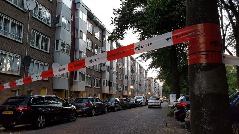Portiekflat Amsterdam beschoten