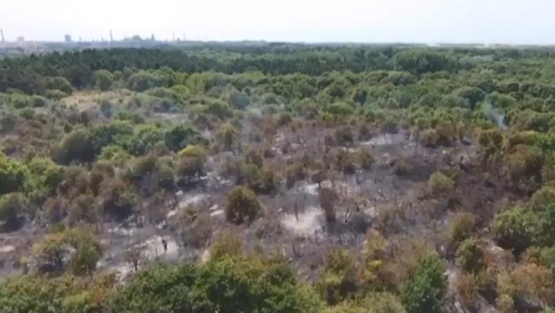Duinbrand heemskerk drone screenshot