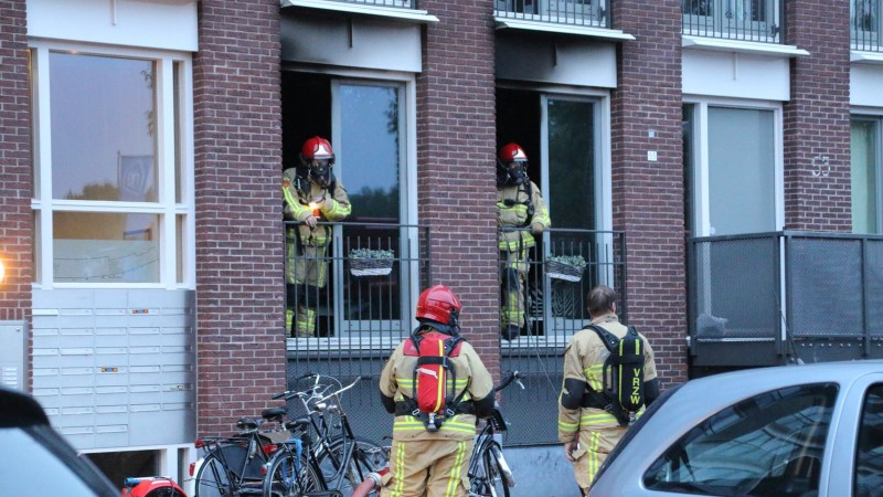 Brand in appartement Purmerend, hamster gered