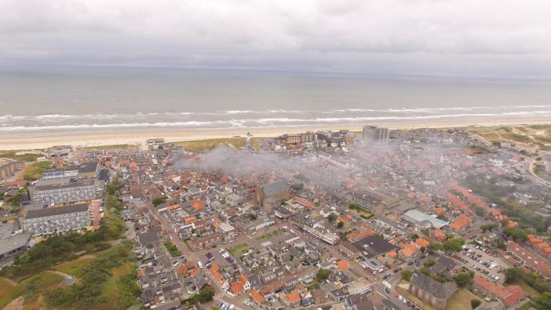 Grote brand in Egmond aan Zee