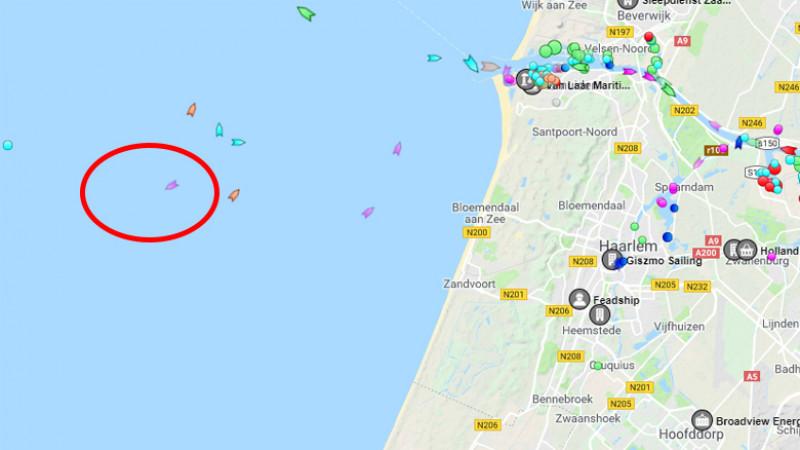 Locatie gezonken Deens zeiljacht