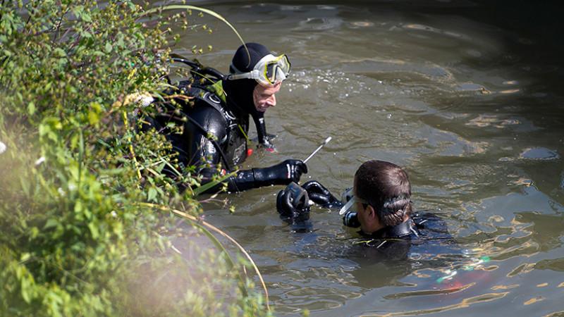 Zoekactie in de Maas naar stoffelijke resten van Tanja Groen (2012)