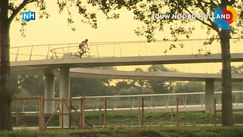 Liniebrug Amsterdam Rijnkanaal fiets