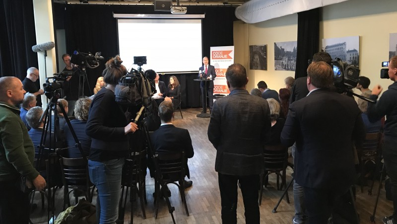 Persconferentie Code Oranje
