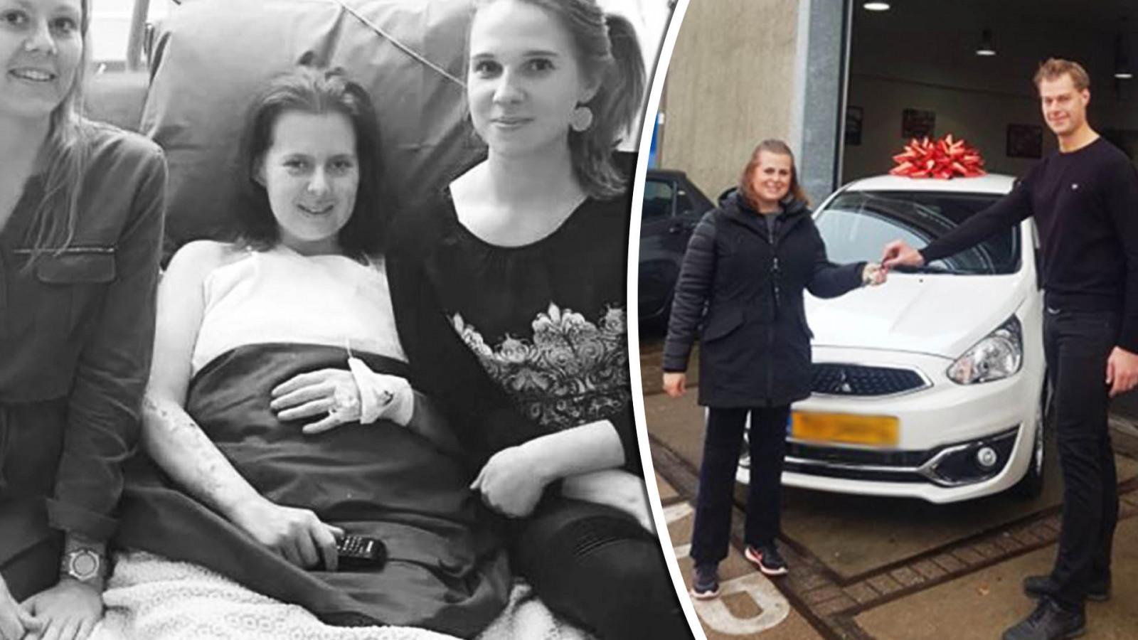 Links is een oude foto, rechts is Liza's nieuwe auto! NH Nieuws