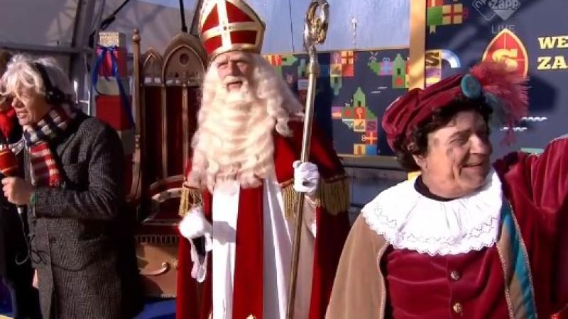Sinterklaas aangekomen in Nederland