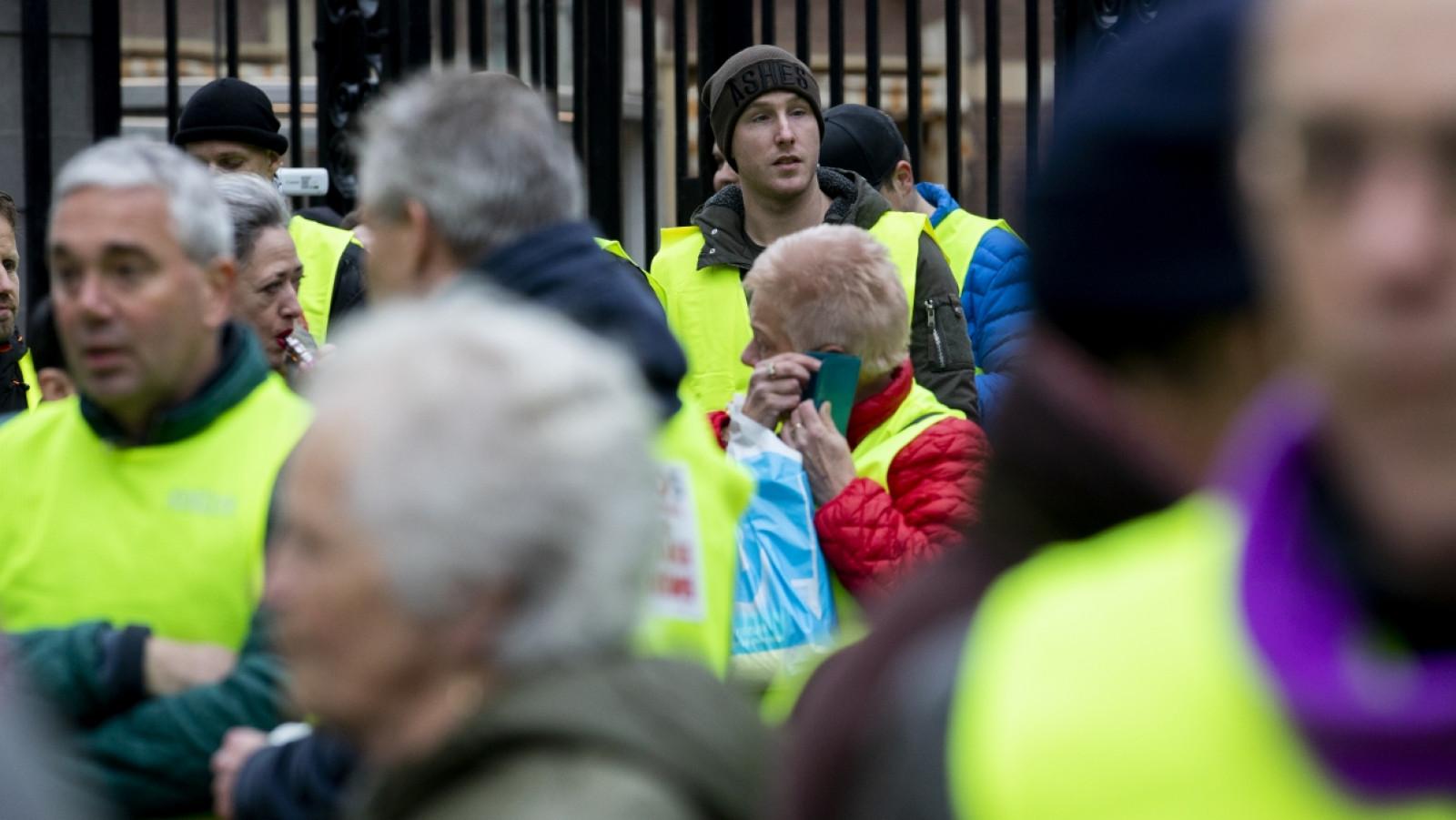 Een protest van de Gele Hesjes in Den Haag / ANP