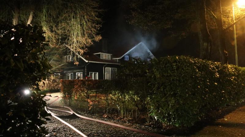 Zeer grote brand in villa Bussum