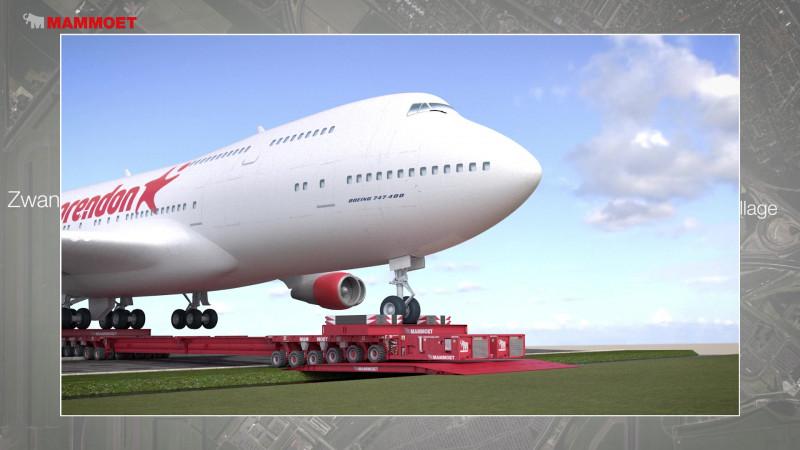 Het transport van de Boeing 747