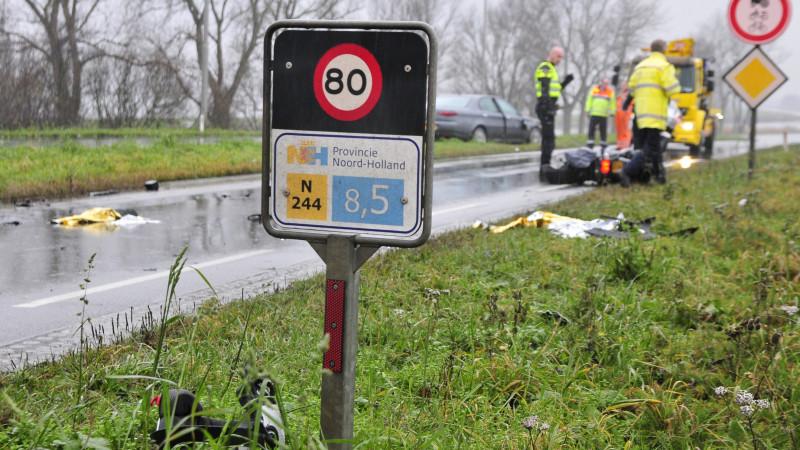 Scooterbestuurder ernstig gewond bij ongeval N244