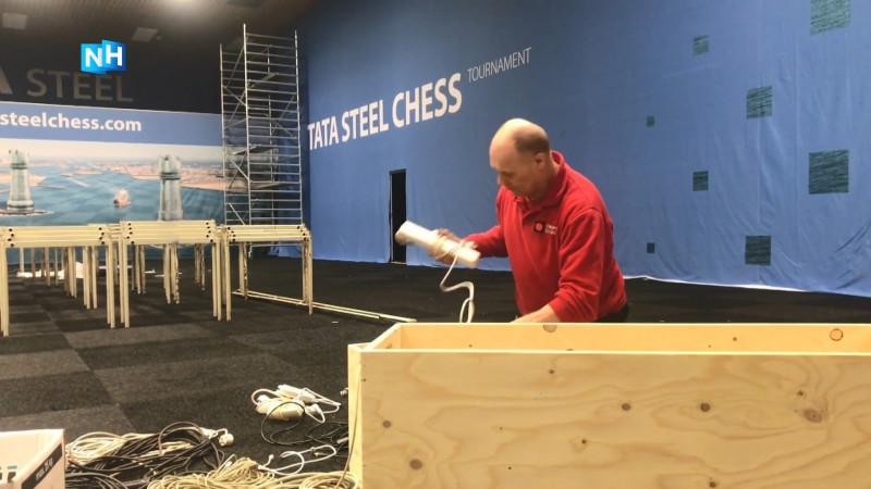 Opbouwer Tata Steel Chess Tournament houdt zelf niet van schaken