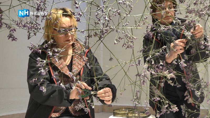 Ikebana-expositie in Flower Art Museum Aalsmeer