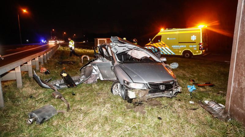 Ravage bij eenzijdig ongeluk Velsen-Zuid