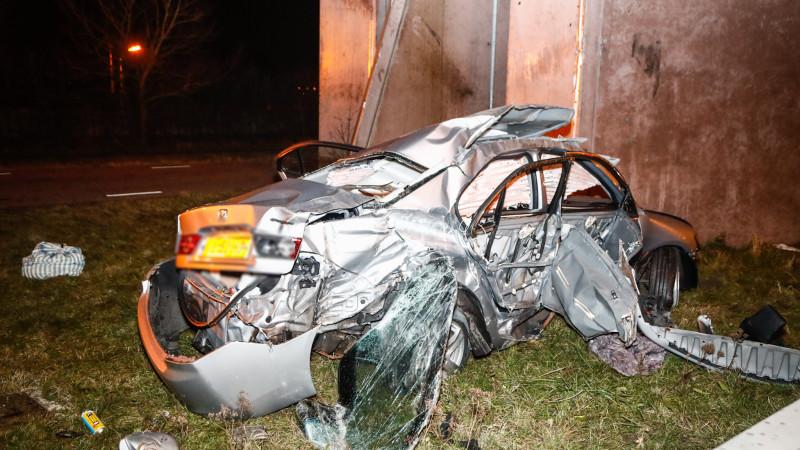 Ravage bij ongeluk op de N202: auto total loss.