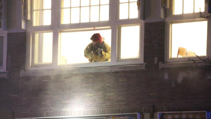 Brand bij Vossius Gymnasium Amsterdam