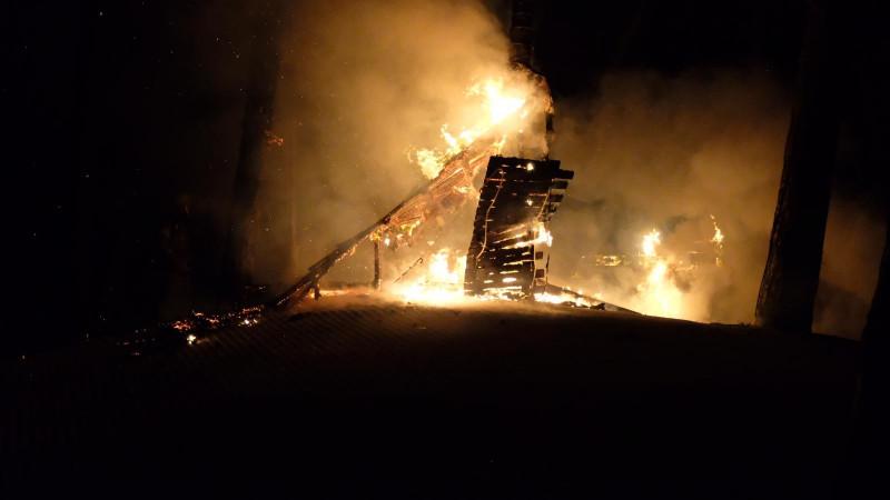 Brand bij skiclub in Bergen