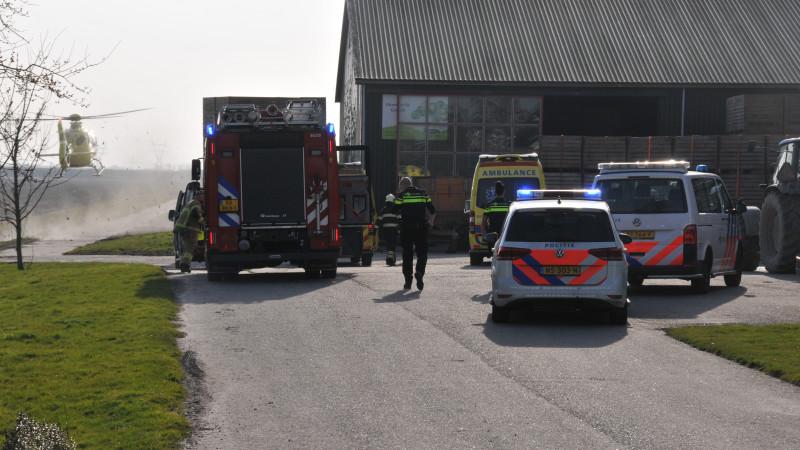 Jongetje overleden bij ongeluk met heftruck in Schermerhorn.