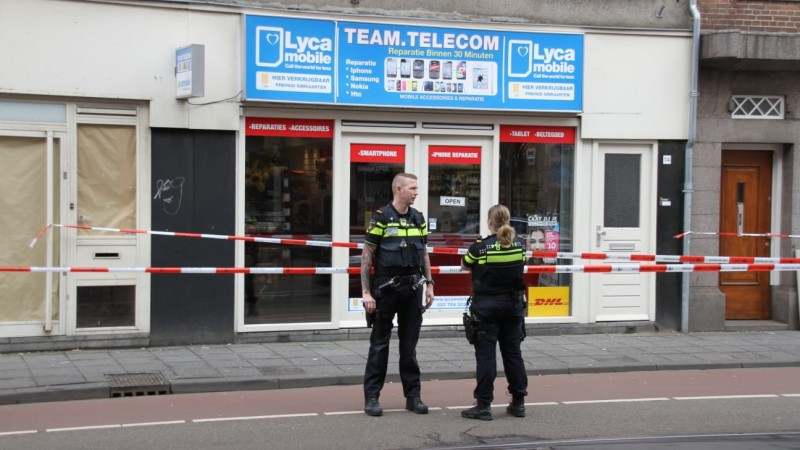 Overval telecomwinkel Amsterdam Jan Evertsenstraat