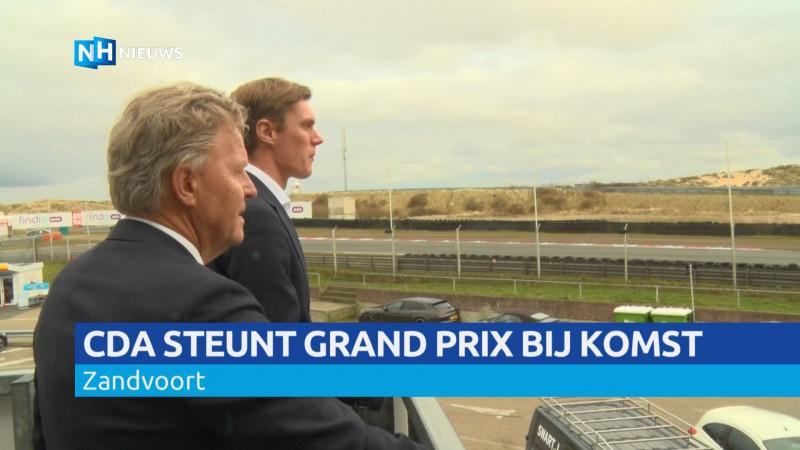 CDA steunt komt Grand Prix bij komst