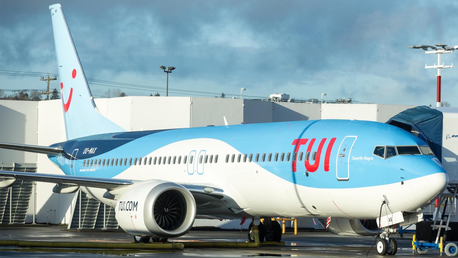 De eerste Boeing 737 MAX van TUI Belgium - foto: TUI Group