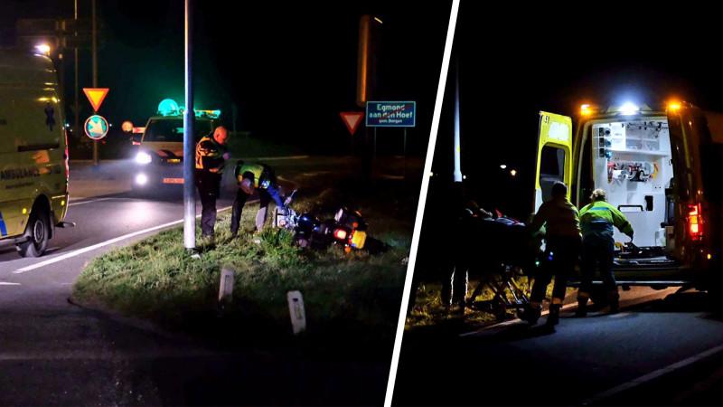 Motorrijder overleden na botsing op lantaarnpaal in Egmond aan den Hoef.