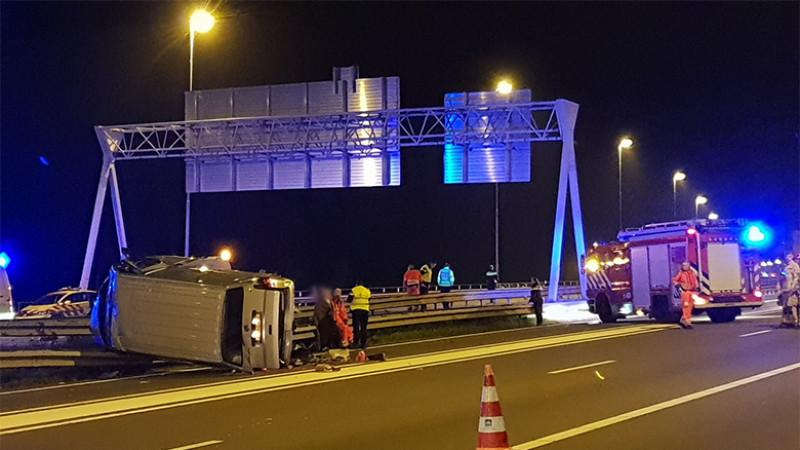 Ongeluk met zes gewonden op A7