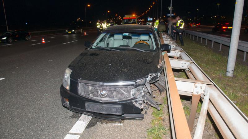 Automobilist onwel tijdens het rijden: stevig ongeval op A4 bij Schiphol.