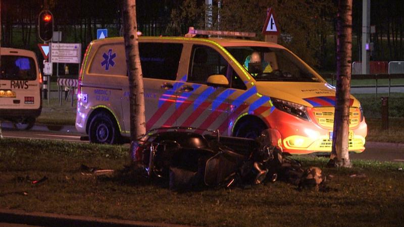 Scooterongeluk Westelijke Randweg Schiphol