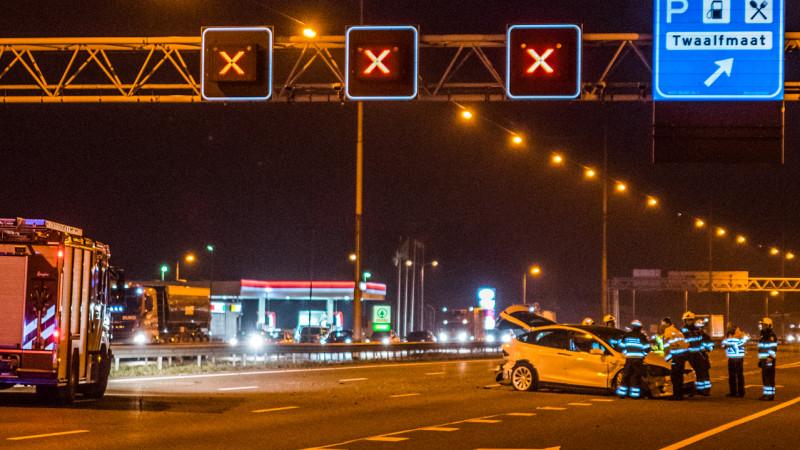 Ongeluk op A9 bij Heemskerk: weg gedeeltelijk dicht.